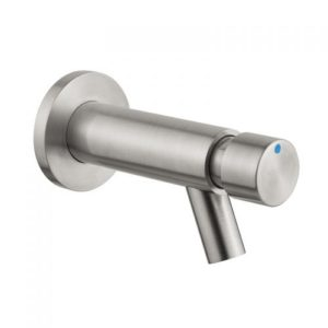 Stainless steel wall mounted self-closing push button bassin tap