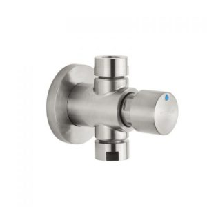 Stainless steel wall mounted self-closing push button tap for shower